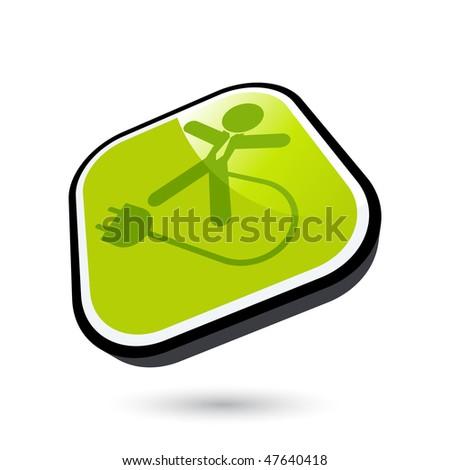modern electric man sign - stock vector