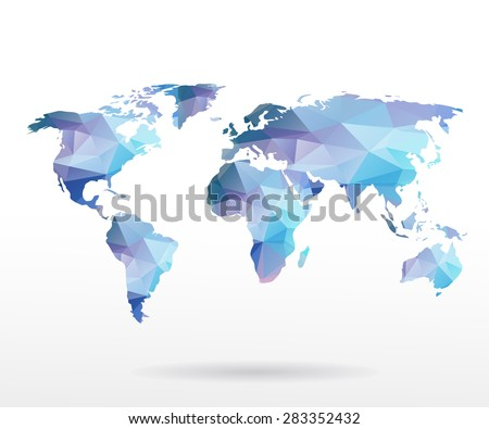 free vector mosaic world map download free vector art stock