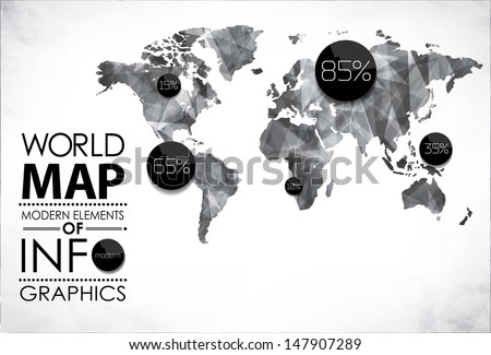 Vintage world map download free vector art stock graphics images modern elements of info graphics world map and typography gumiabroncs Image collections