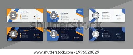 Modern Email signature template design, personal email signature templates, Email signature design ideas, outlook, professional email signature design, personal social media cover.