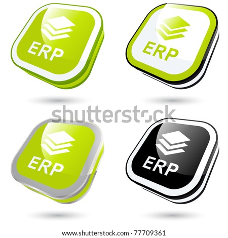 modern erp sign collection in 3D