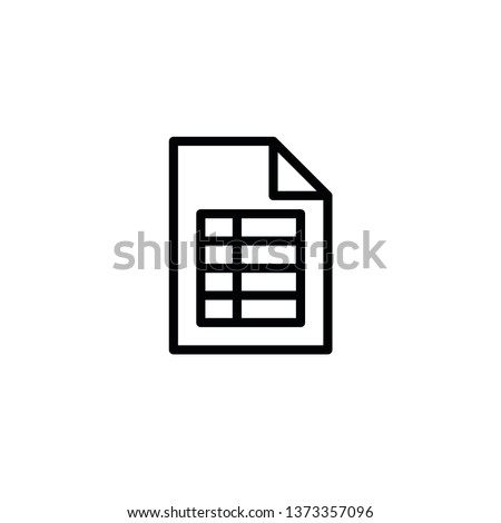 Modern excel file icon