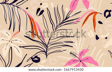 modern exotic jungle plants