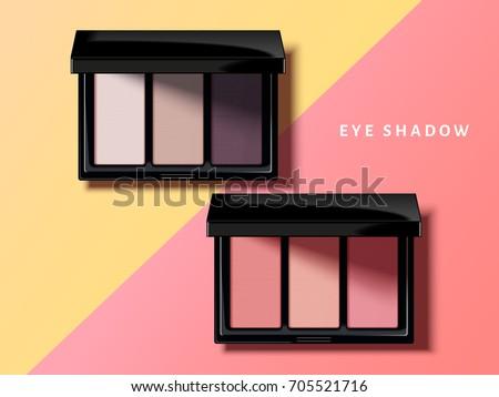 modern eye shadow palette  pink