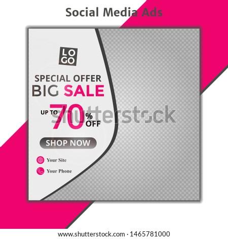 Modern fashion sale ad design, eps10