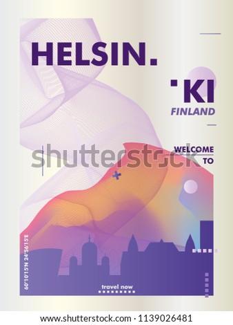 modern finland helsinki skyline