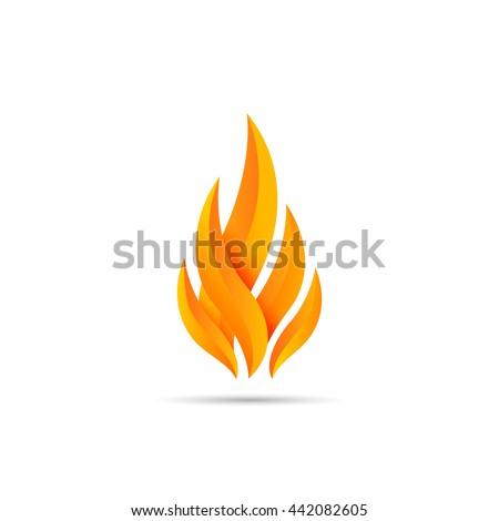 modern fire logo or icon design