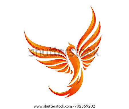 modern flaming phoenix logo
