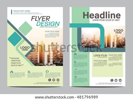 modern flat brochure layout design template annual report flyer