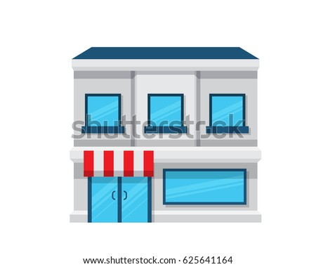 Modern Flat Commercial Business Building