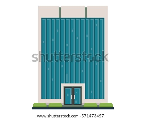 Modern Flat Commercial Office Building, Suitable for Diagrams, Infographics, Illustration, And Other Graphic Related Assets