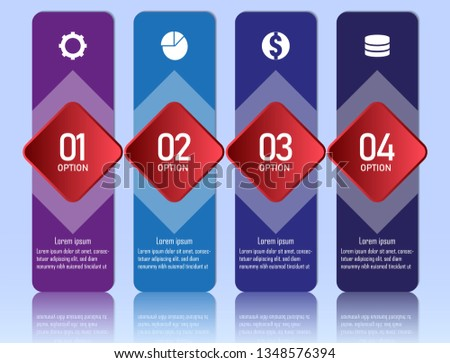 Modern flat customizable vector info graphic elements, with space for text. Business info graphic elements. Educational info graphic elements.