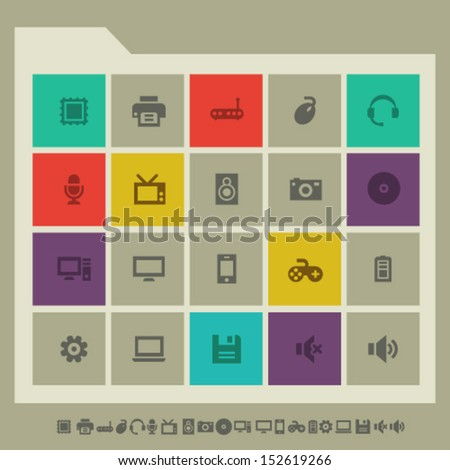 Modern flat design computer icons