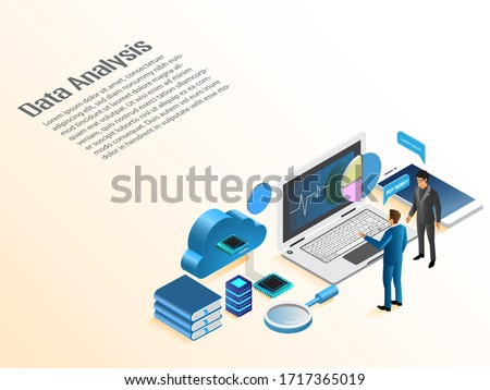 Modern flat design isometric concept of Data Analysis stock photo