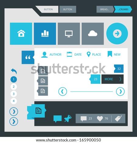 modern flat design ui template