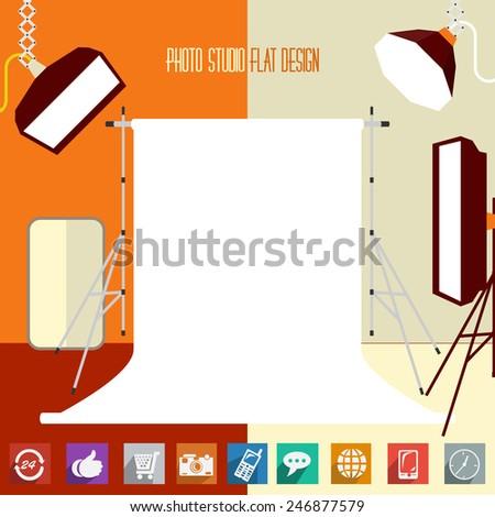 modern flat designed photo