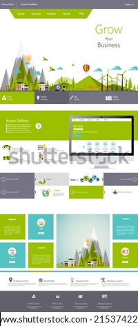 modern flat eco one page