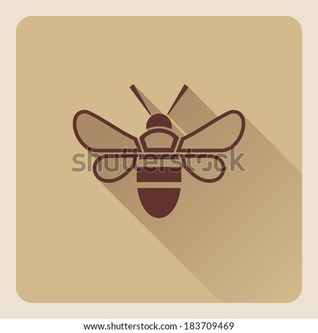modern flat honey bee icon