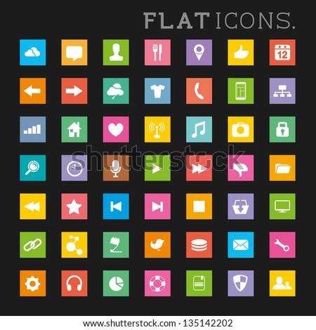 Large Icon Set Modern Flat Icon Set a Large