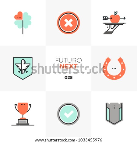 modern flat icons set of