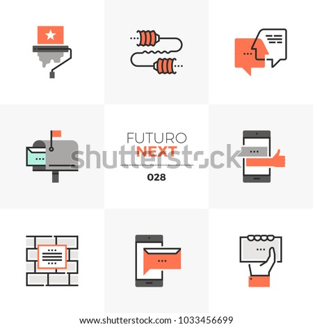 modern flat icons set of buzz