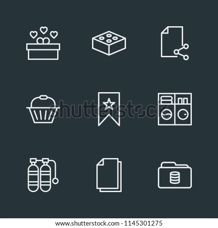 Stock Photo Modern Flat Simple Vector icon set. Contains Icons  childhood,  housework, handle,  shop,  file, bookmark,  favorite,  air,  computer,  celebration, folder,  box,  database,  information,  holiday