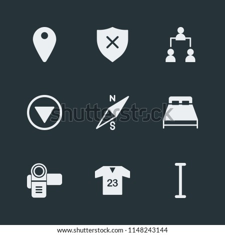 Modern Flat Simple Vector icon set. Contains Icons  direction,  structure,  digital,  t-shirt,  muscle,  wear,  corporate, text,  social,  video,  wheelchair,  interface, compass, sport,  physically
