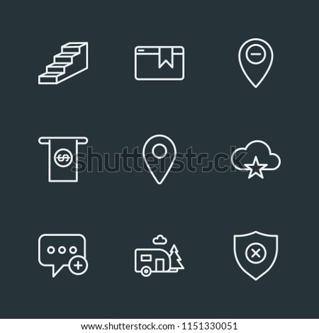 Modern Flat Simple Vector icon set. Contains Icons  success,  stairway,  business,  money,  banner,  map,  add, map,  career, web,  create,  location, cash,  new, up,  home,  tag,  security,  pointer