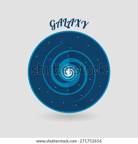 modern flat style galaxy vector