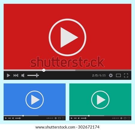 modern flat video player