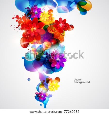 modern floral  background
