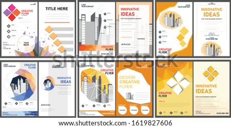 Modern flyer design. Flyer template bundle