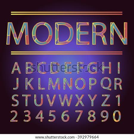 Modern Font Alphabet Set. Vector Illustration.