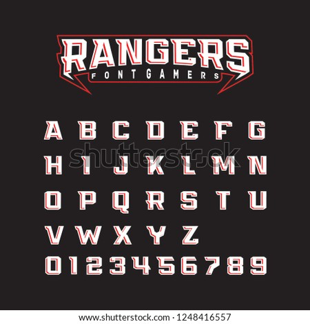 Modern font rangers bold, perfect for sports fonts and esport games
