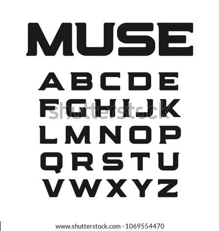 modern font with unusual serifs