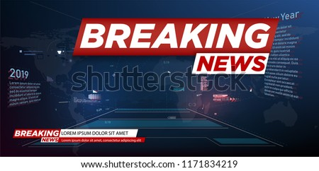 Modern futuristic template for news on background.Digital data visualization. Business technology concept.Banner breaking news, important news,Vector illustration