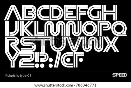 modern futuristic typeface