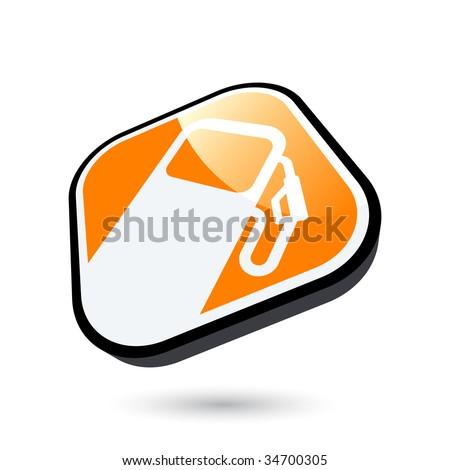 modern gas sign - stock vector