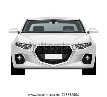 modern generic car front view