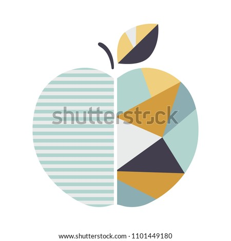 modern geometric apple