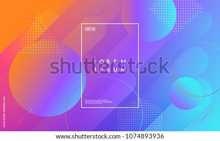 Modern geometric background. Gradient shapes composition. Eps10 vector.