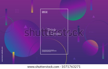 Modern geometric background. Web page template. Simple shapes composition. Eps10 vector. - Shutterstock ID 1071763271