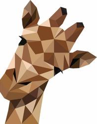 Modern geometric giraffe vector