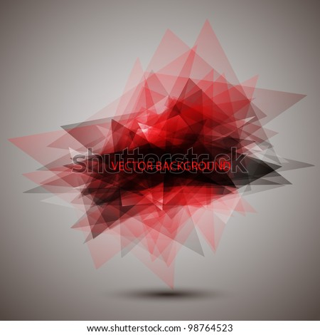 Modern geometric red background.Vector eps 10