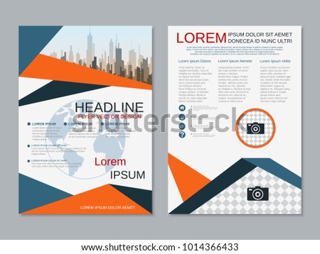 Business Cover Page Brochure Template Download Free Vector Art
