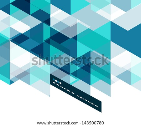 Modern geometrical abstract vector template
