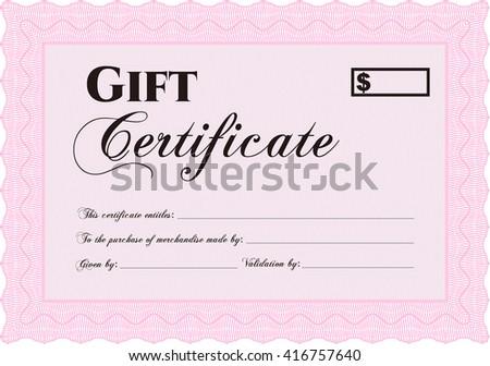 Modern gift certificate template.