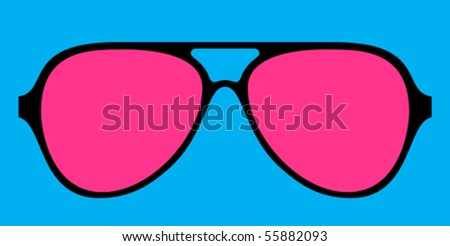 modern glasses frame in bright colours