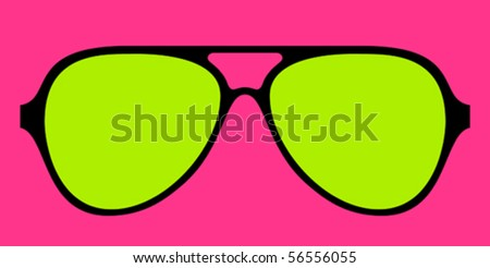 modern glasses frame in bright
