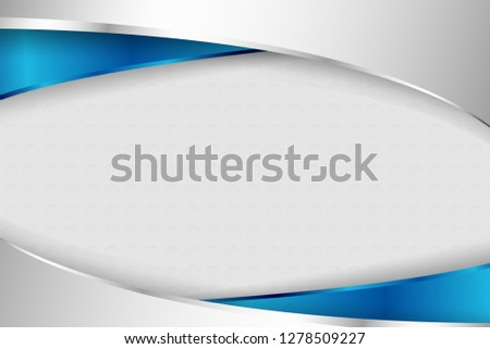 Modern glistening blue and silver geometric shapes on white gradient background. Creative and luxury background design in EPS10 vector illustration.